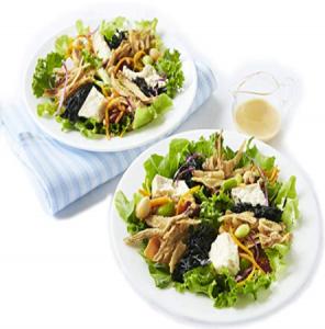 島豆腐とひじきのふたりサラダ豆乳クリーム入り胡麻マヨソース付き