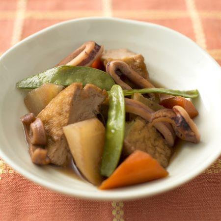 イカと根菜の煮物