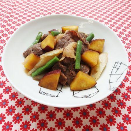 牛肉とさつま芋の炒め煮