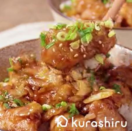 黒酢で作る キャベツと国産鶏の甘酢丼